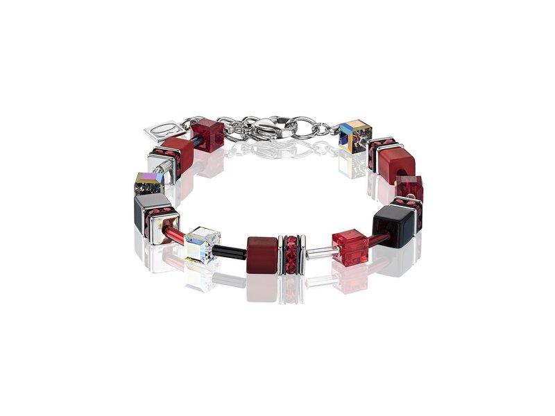 Product standard 4014 30 0312   coeur de lion   red grey  bracelets   stainless steel   4250409649737