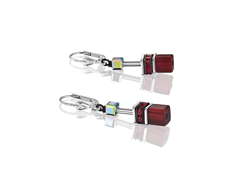 Product standard 4014 20 0312   coeur de lion   red grey  pierced  earrings   stainless steel   4250409649386