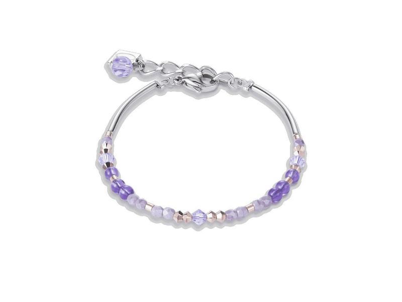Product standard 4944 30 0829 lilac crystal bracelet coeur de lion silver