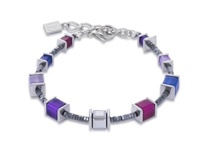 Product standard 4945 30 0807   coeur de lion   violet blue  bracelets stainless steel 4251588300235