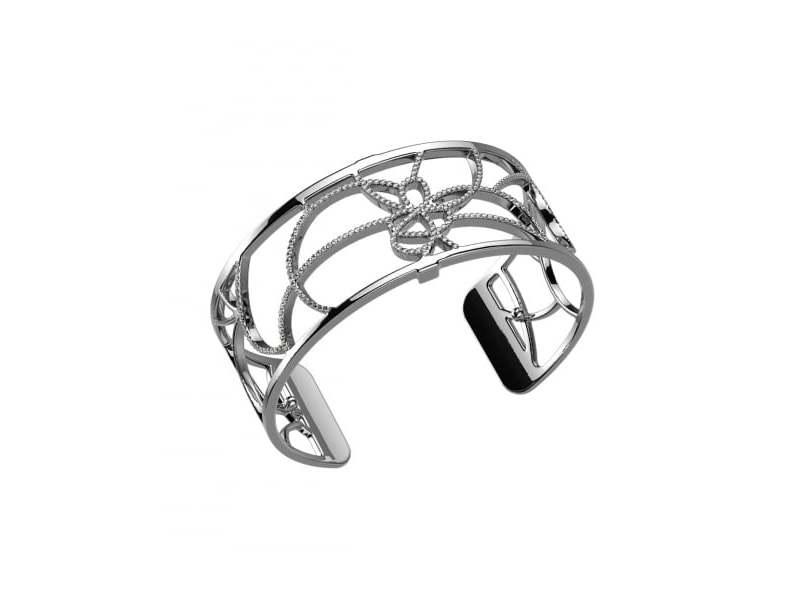 Customisable Silver & Cz Petals Cuff 25Mm