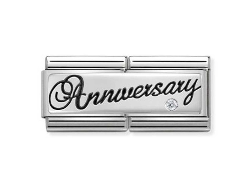 Product standard 330730 03 nomination silver double link anniversary