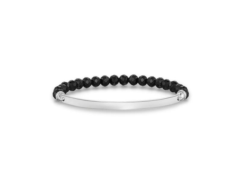 Product standard lba0001 023 11 l16   thomas sabo   ts silver plate   black  bead bracelets    silver   4051245196320