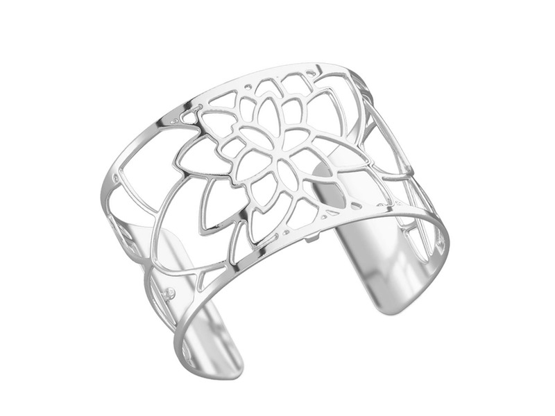 Product standard 70284021600000   les georgettes   lgs customisable silver plated nenuphar cuff 40mm   silver   3607051399472