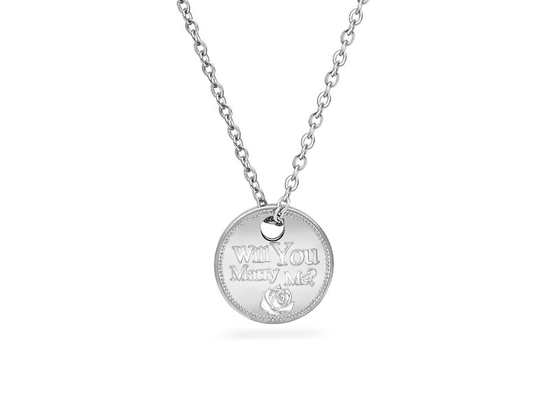 Fourth Avenue Will You Marry Me Pendant + Chain