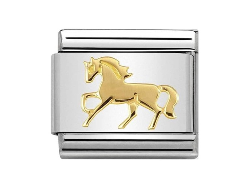Product standard 030149 26   nomination italy   composable galloping horse link   gold   8033497440594
