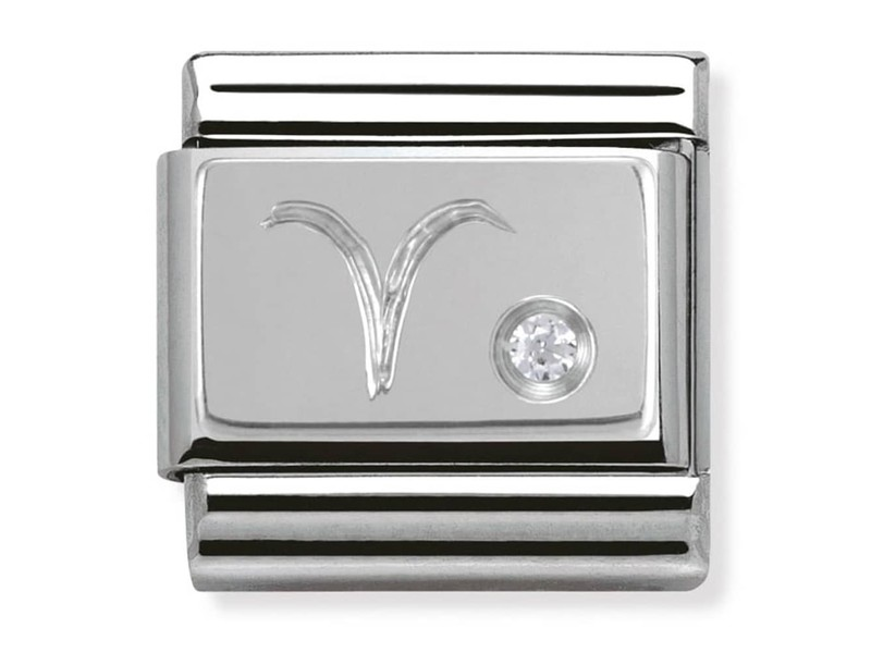 Product standard 330302 01 silver shine aries zodiak link nomination italy