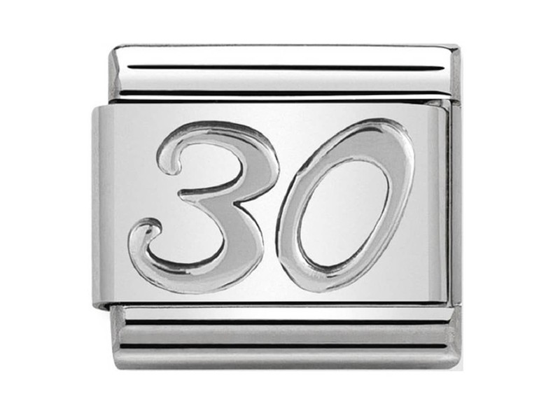 Product standard 330101 22 nomination italy silver shine 30 link
