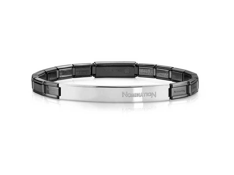 Product standard 021113 030   nomination italy   stainless steel black   metalic bracelets   stainless steel   8033497392268