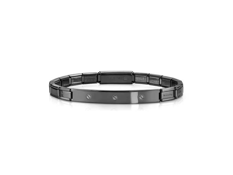 Product standard 021115 015   nomination italy   black  satinless steel trendsetter bracelets    stainless steel