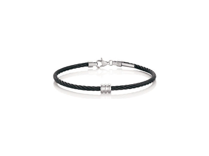 Product standard 024124 006   nomination italy   black  stainless steel   leather tribe bracelets    stainless steel