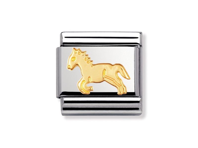 Product standard 030112 09   nomination italy   composable gold jumping horse link    gold   8033497011732