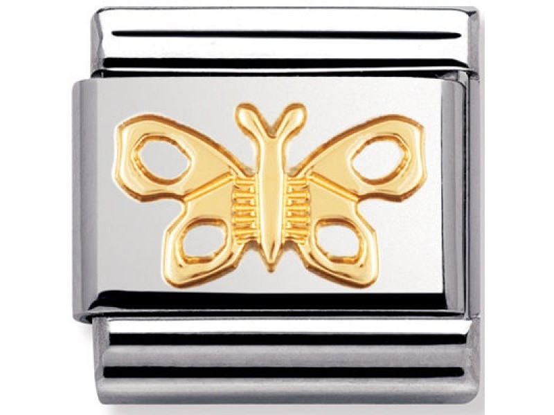 Product standard 030114 02   nomination italy   composable gold butterfly link    gold   8033497037015