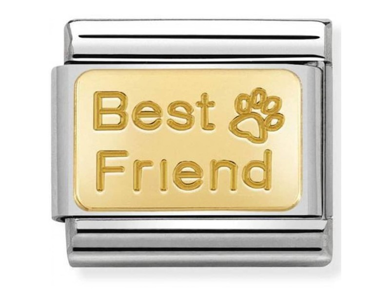 Product standard 030121 50   nomination italy   composable best friend link    gold   8033497460783