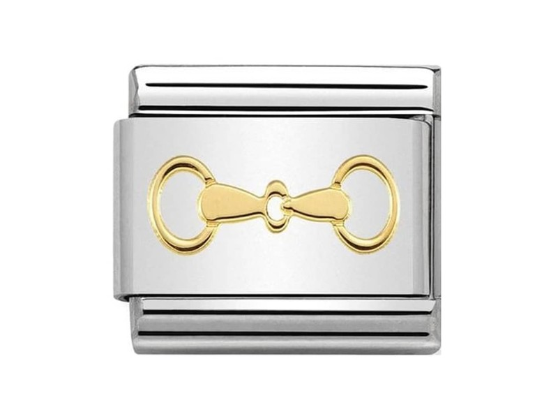 Product standard 030149 31   nomination italy   composable snaffle bit link   gold   8033497440648