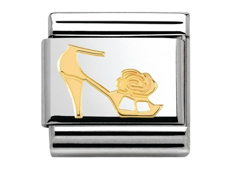 Product standard 030162 17   nomination italy   composable gold heeled shoe link    gold