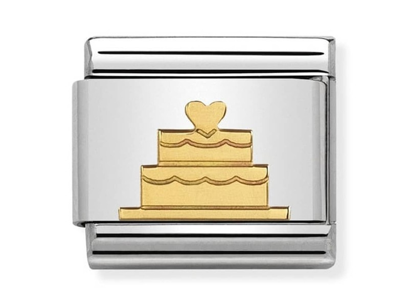 Product standard 030162 40   nomination italy   composable tiered cake link    gold   8033497429643