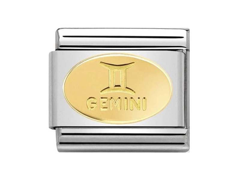 Product standard 030165 03   nomination italy   composable classic gemini link   gold   8033497440723