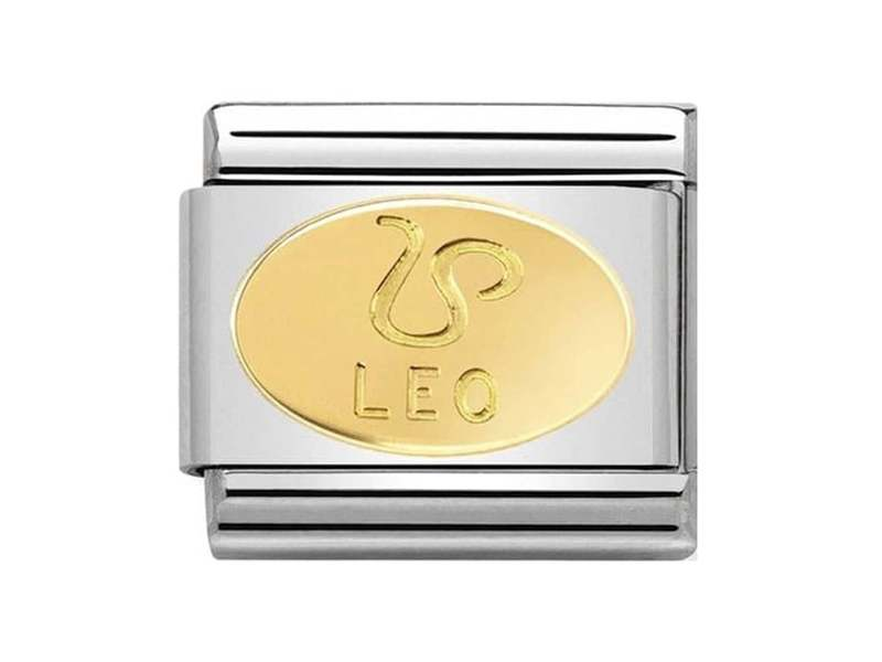 Product standard 030165 05   nomination italy   composable classic leo link   gold   8033497440747