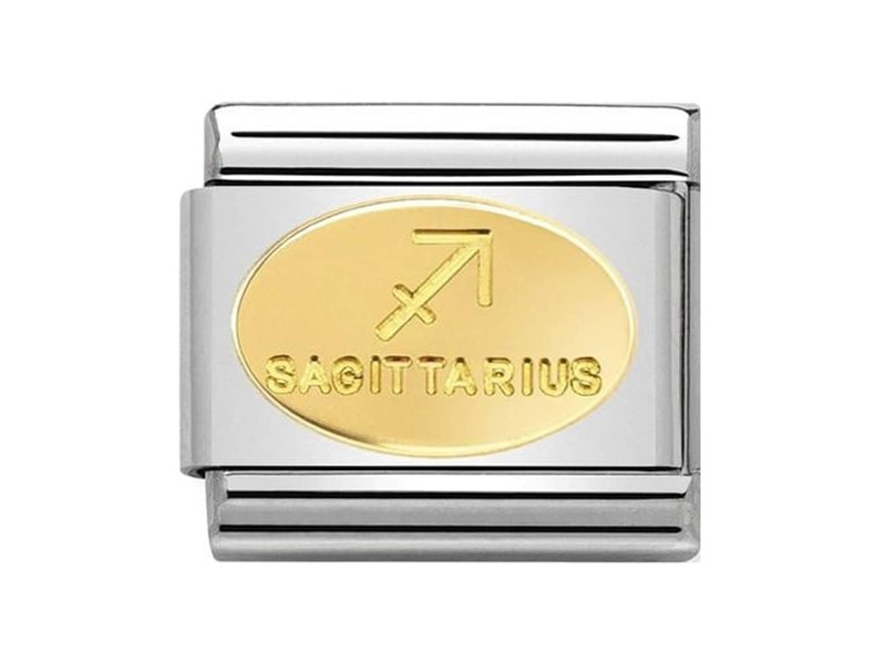 Product standard 030165 09   nomination italy   composable classic sagittarius link    gold   8033497440785