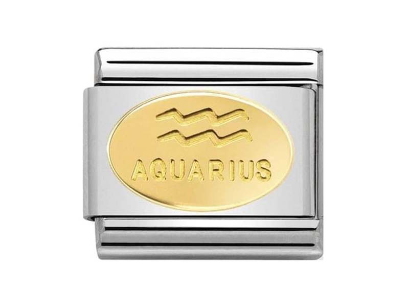 Product standard 030165 11   nomination italy   composable classic aquarius link    gold   8033497440808