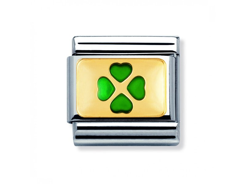Product standard 030205 01   nomination italy   composable 4 leaf clover link    gold   8033497013446