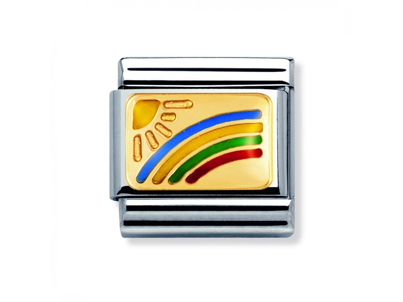 Product standard 030208 01   nomination italy   composable sun   rainbow link    gold   8033497014184