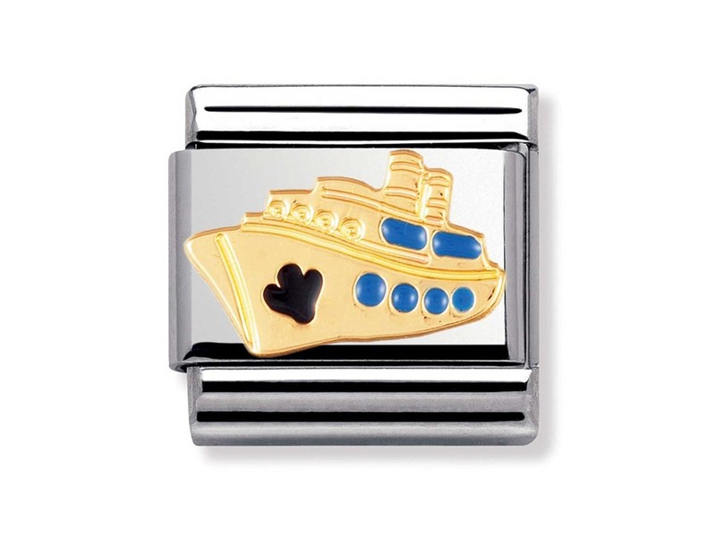Product standard 030210 12   nomination italy   composable cruise ship link    gold   8033497014597