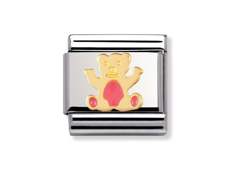 Product standard 030212 32   nomination italy   composable pink bear link    gold   8033497038333
