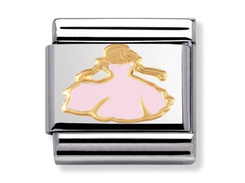 Product standard 030272 15   nomination italy   composable princess link    gold   8033497179449