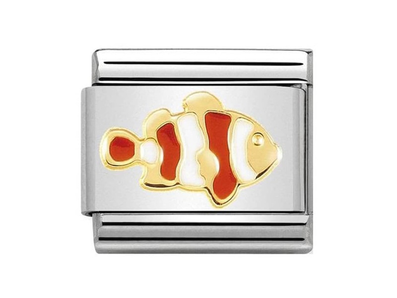 Product standard 030272 40   nomination italy   composable clownfish link   gold   8033497460899