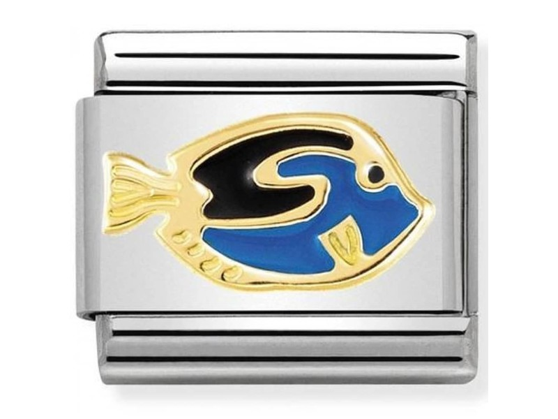 Product standard 030272 41   nomination italy   composable blue surgeonfish link   gold   8033497460905