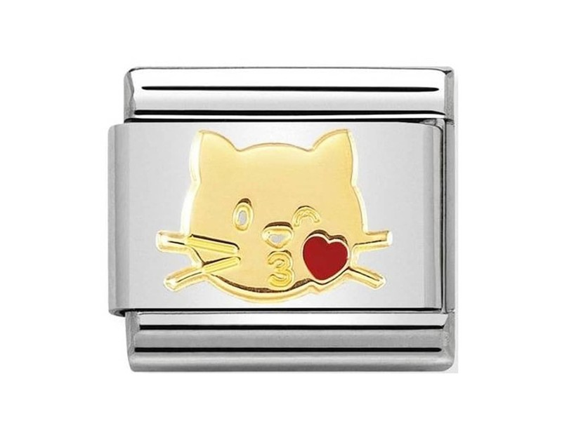 Product standard 030272 45   nomination italy   composable flying kiss cat link    gold   8033497460943