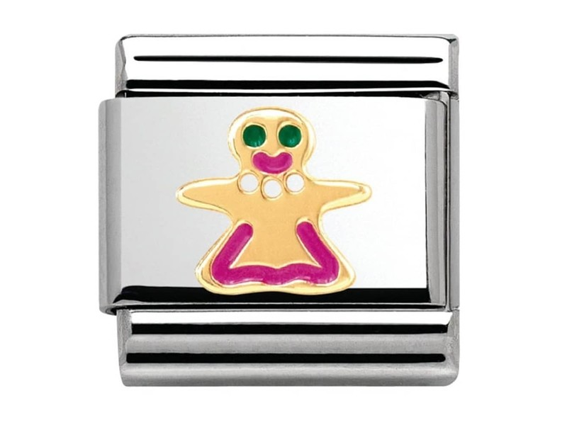 Product standard 030285 09   nomination italy   composable gingerbread woman link    gold