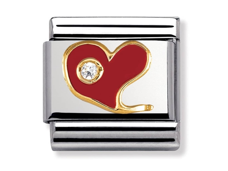 Product standard 030321 21   nomination italy   composable red heart stone set link    gold   8033497111357