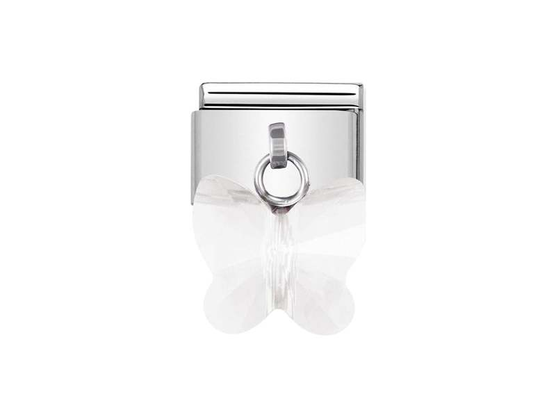 Product standard 030604 10   nomination italy   composable white butterfly charm link    stainless steel   8033497167255