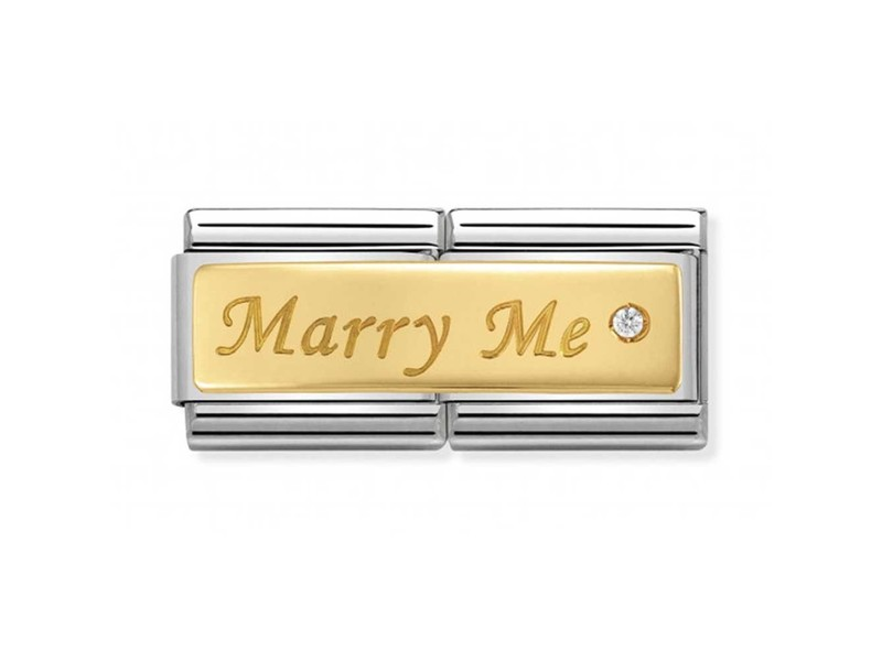 Product standard 030730 01   nomination italy   composable marry me double link    gold   8033497429933