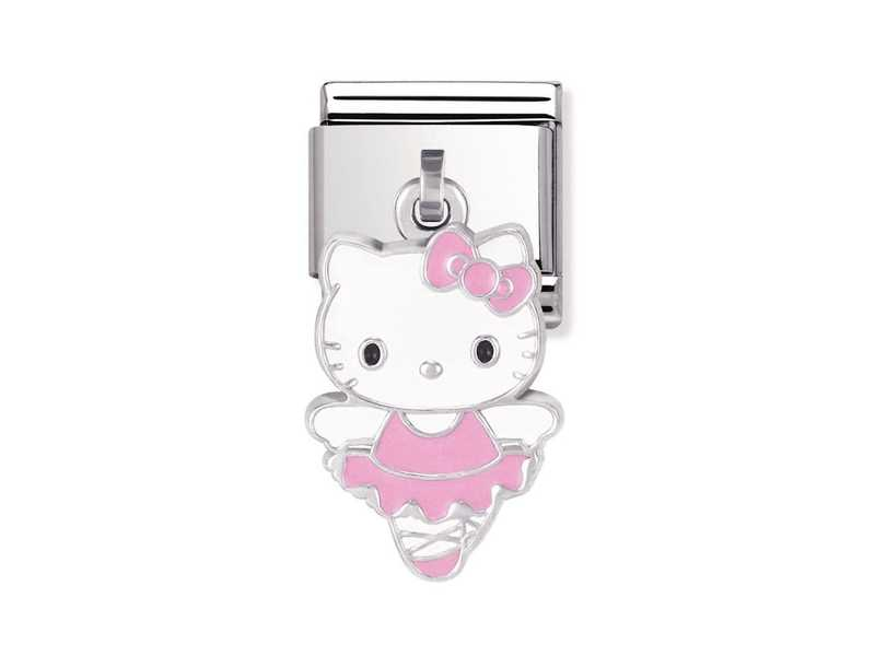 Product standard 031782 05   nomination italy   composable hello kitty pink ballerina charm link   silver   8033497222862