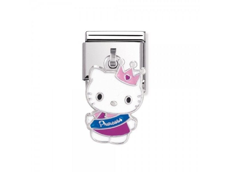 Product standard 031782 18   nomination italy   composable hello kitty princess charm link   silver