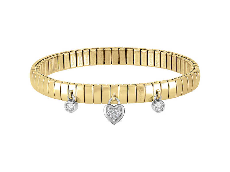 Product standard 044210 001   nomination italy   gold xte heart charm bracelets   silver