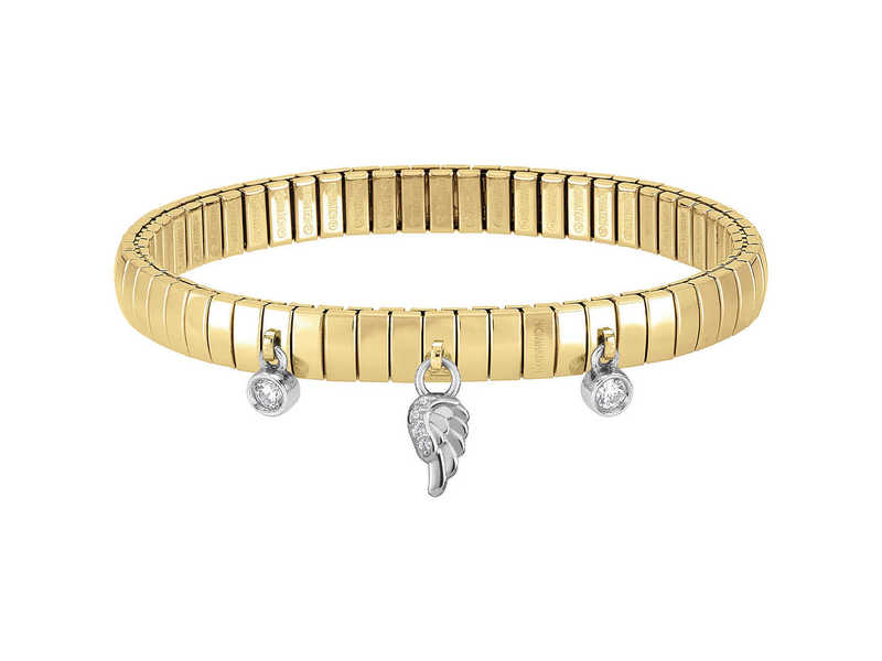 Product standard 044210 006   nomination italy   gold xte wing charm bracelets   silver   8033497390394