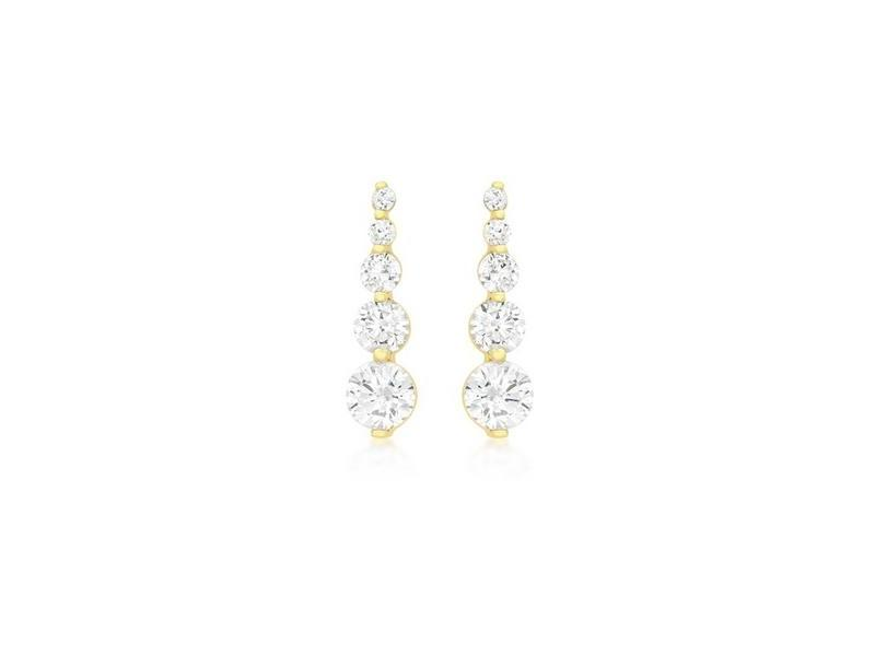 Product standard 1.58.4399   fourth avenue   our gold   cz gradient drop earrings    gold