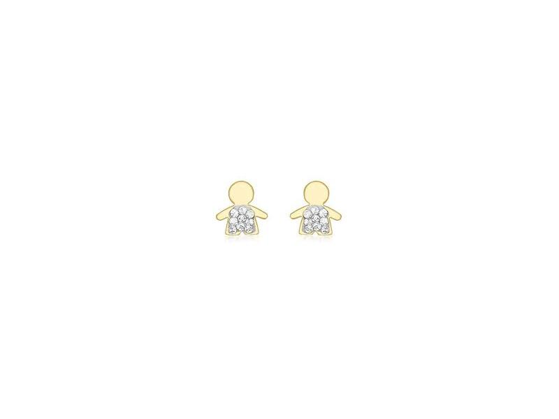 Product standard 1.58.8179   fourth avenue   our gold   cz pave boy stud earrings   gold