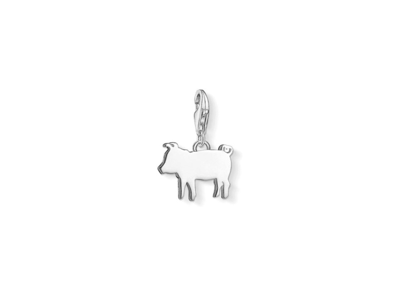 Product standard 1290 001 12   thomas sabo   ts silver piglet charm    silver   4051250000000