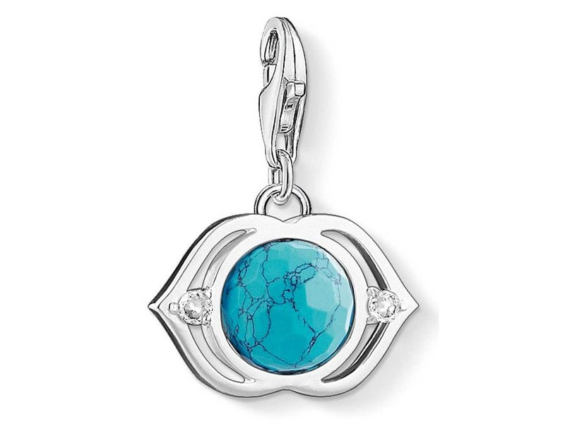 Product standard 1328 060 17   thomas sabo   ts silver   turquoise lotus charm    silver   4051245231182