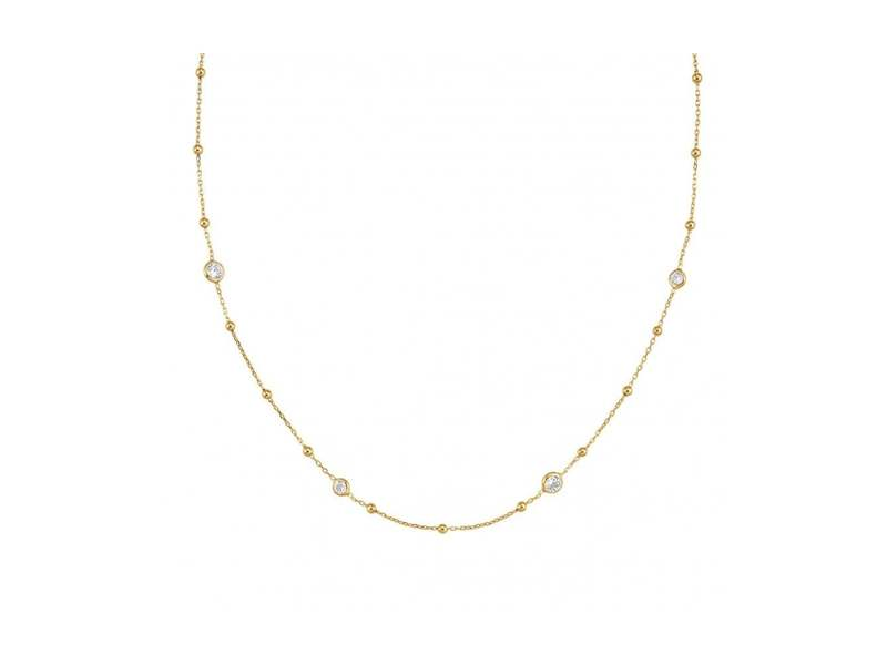 Product standard 142622 012   nomination italy   bella stone set gold necklaces    gold   8033497370440