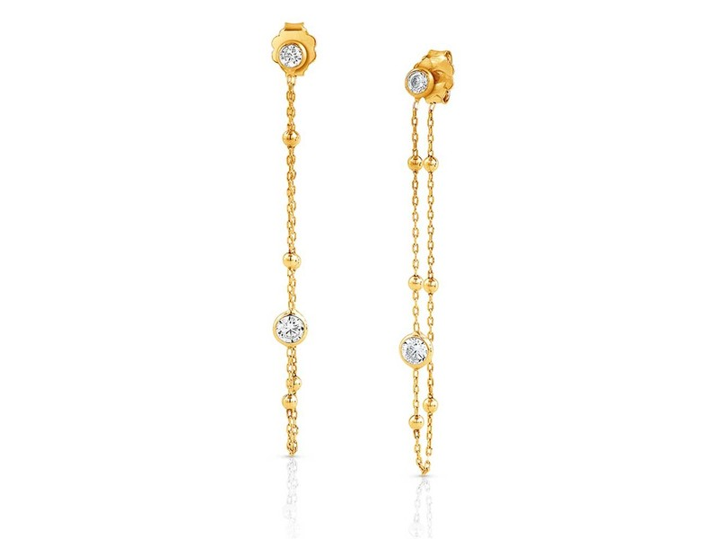 Product standard 142624 012   nomination italy   stone set gold bella drop earrings    silver   8033497370501