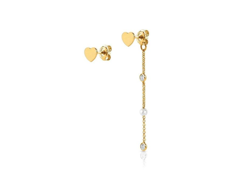 Product standard 142643 019   nomination italy   stone set gold heart drop earrings    silver   8033497391216