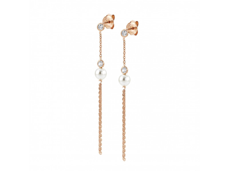 Product standard 142664 011   nomination italy   rose gold bella pearl tassel drop earrings    silver   8033497400406