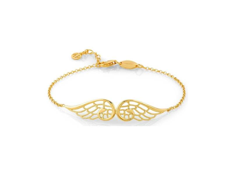 Product standard 145301 012   nomination italy   gold double angel wing bracelets    silver   8033497369222